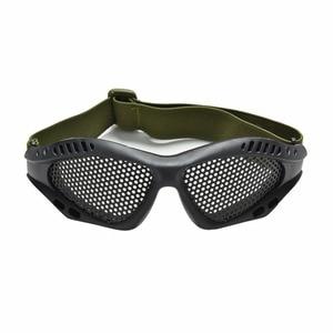 Image 2 - חיצוני שחור טקטי CS איירסופט פיינטבול מתכת Mesh Goggle עיניים מגן משקפיים חיצוני ספורט Eyewear סיטונאי