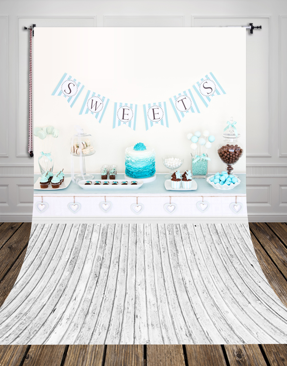 {various sizes} birthday photography backdrop Art fabric newborn photography backdrop studio background  sweets backdrop D-9749