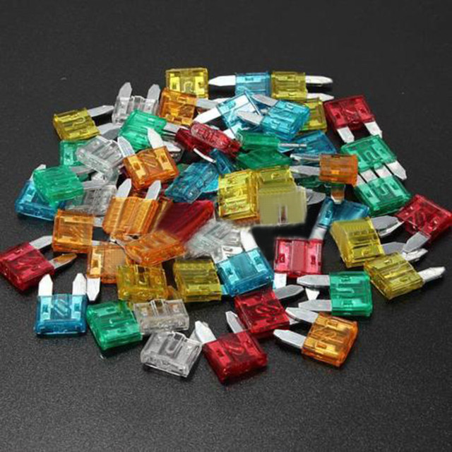 60pcs Mixed Mini Blade Fuse Zinc Alloy and Plastic Material 5A 10A 15A 20A 25 30A AMP Set For Auto Car Truck