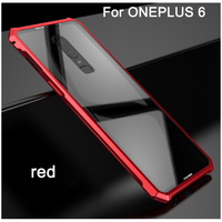Cases For ONEPLUS 6 Case Hard Back Metal Tempered Glass Bumper Business One plus 6 cover Phone Case For For ONEPLUS6 shell