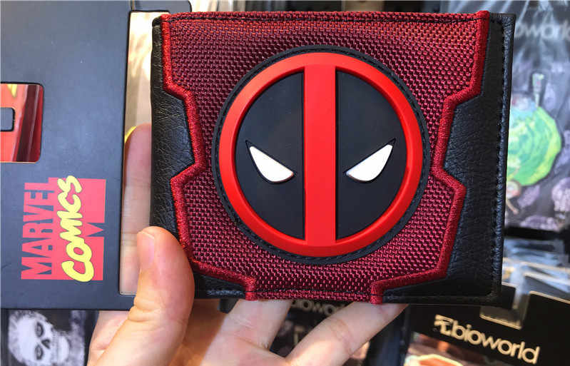 2018 New Designs deadpool wallet slim wallet Cartoon Anime Dead Pool 2 bag Purse Fold Card Holder Bag Short Wallet
