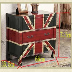 Американский пост-современный нео-классический европейский три шкафа окрашены mizi британский флаг небольшой Бортик в виде ковчега боковой
