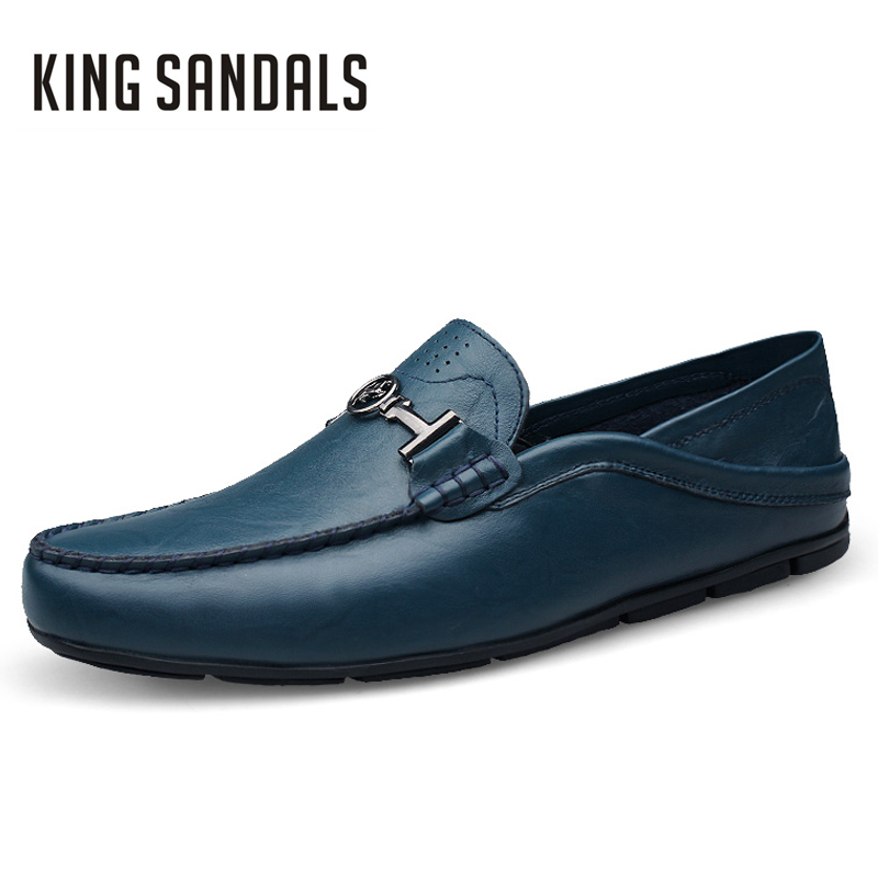 Men Flats Shoes Luxury Brand Slip-on Genuine Leather Comfortable Men's Casual Boat Driving Shoes For Men Wedding Party Shoes branded men s penny loafes casual men s full grain leather emboss crocodile boat shoes slip on breathable moccasin driving shoes