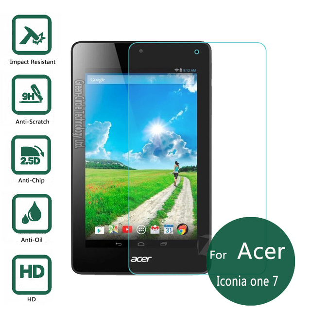 """Nueva 0.3mm 9 H Templado Superior de Cristal Protector de Pantalla de Cine Para Acer Iconia Uno 7 B1-770 7 """"Tablet PC"""