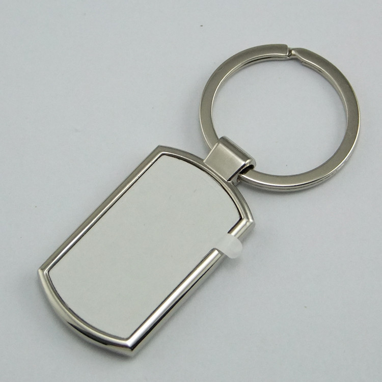 Blank Sublimation metal shield shape key chain bag pendants can print photo custom design personality gift