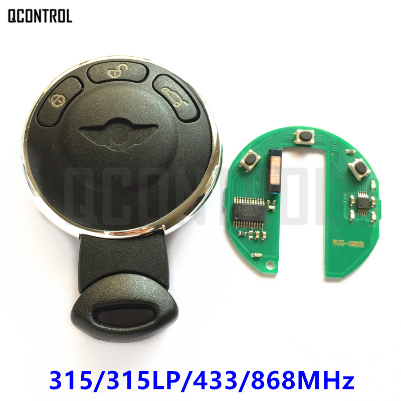 QCONTROL Fern Smart Key für BMW/MINI COOPER S ONE D CLUBMAN RYMAN CABRIO Auto Lock 315 MHz/315LP/433 MHz/868 MHz