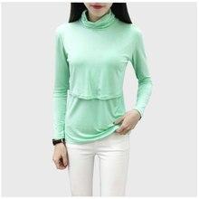 Nursing-Top Pregnant-Clothes T-Shirt Feeding Long-Sleeve Basic Turtleneck Solid Elegant
