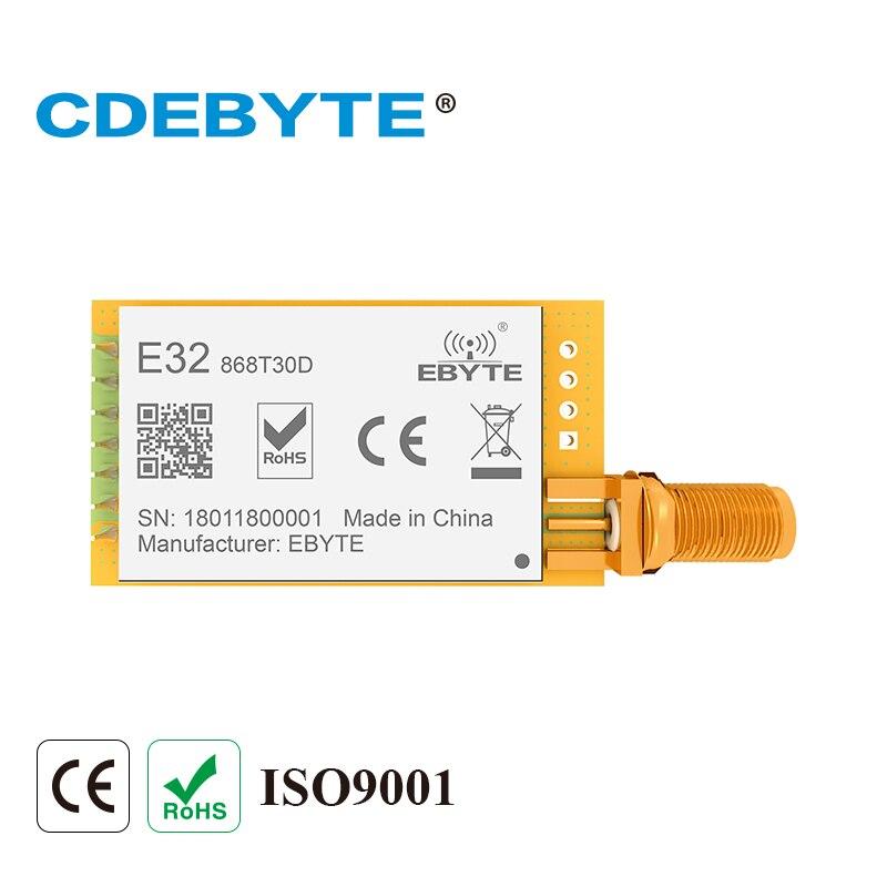 10pcs SX1276 LoRa Module 868MHz 30dBm 1W E32-868T30D UART DIP 868 MHz Radio Transceiver