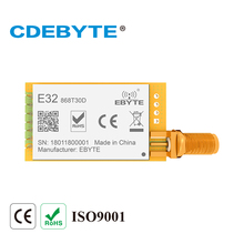 E32 868T30D لورا طويلة المدى UART SX1276 SX1278 868mhz 1 واط SMA هوائي IoT uhf جهاز استقبال واستقبال لاسلكي جهاز ريسيفر استقبال وإرسال وحدة RF