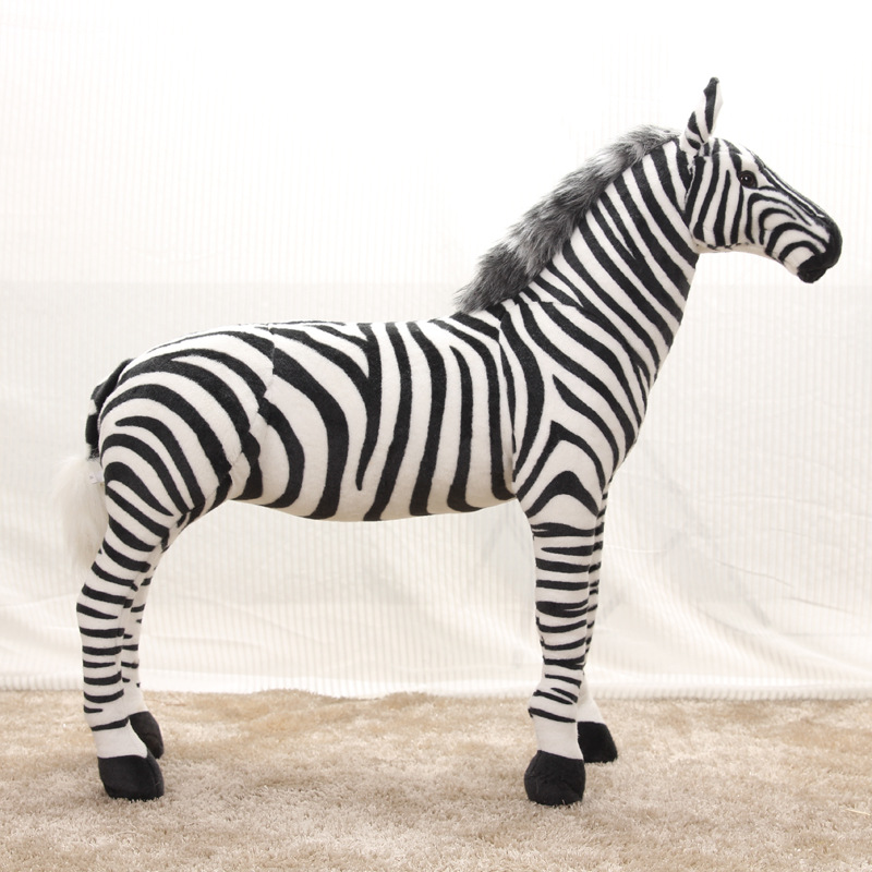 new arrival large 60x55cm simulation zebra plush toy standing zebra toy decoration,birthday gift w1971new arrival large 60x55cm simulation zebra plush toy standing zebra toy decoration,birthday gift w1971