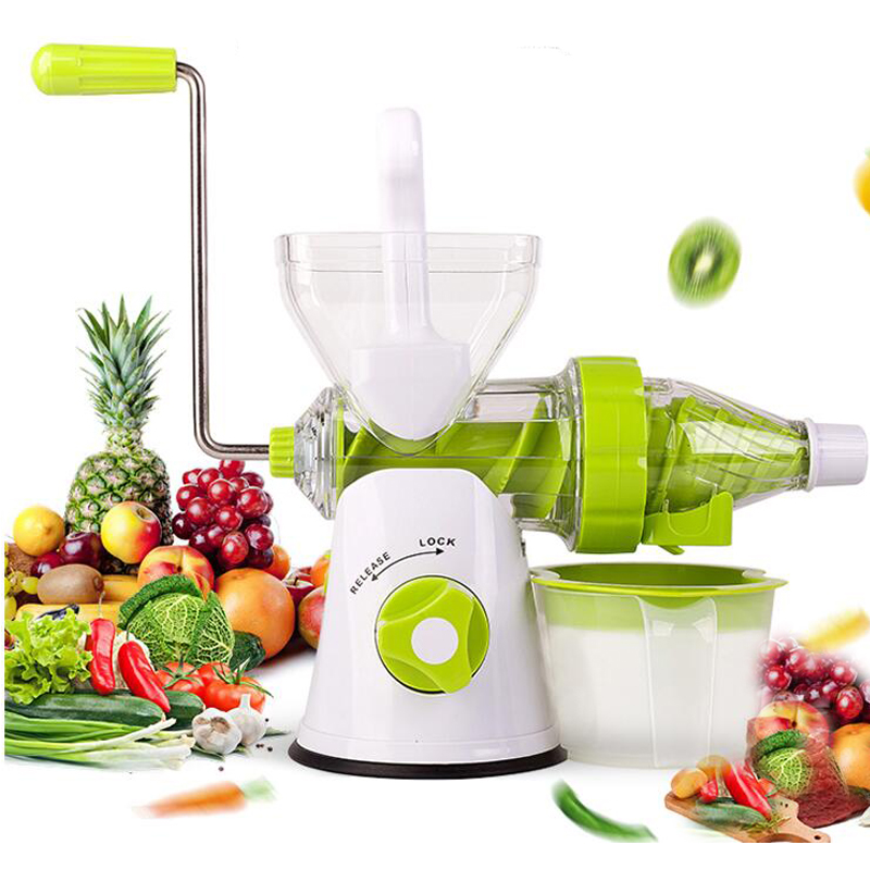 High Quality Home Manual Juicer Fruit Squeezer 100% Healthy Natural Fruit Juice Easy To Operate Ice Cream Mold Free Provided