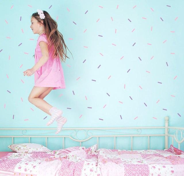 30 pcs Arrose mur art, Mini Bars wall sticker pour Enfants chambre de bébé décoration, libèrent le bateau