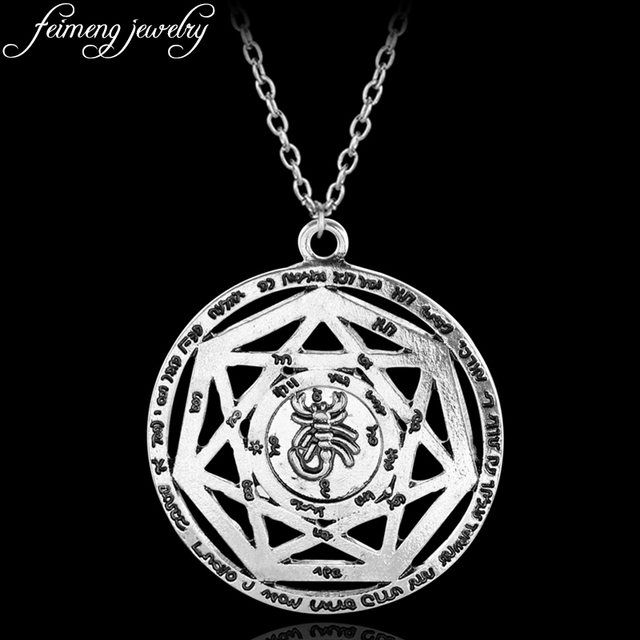 Supernatural necklace heptagram scorpion key of solomon pentacle supernatural necklace heptagram scorpion key of solomon pentacle seal pagan wiccan jewelry supernatural amulet pendant necklace aloadofball