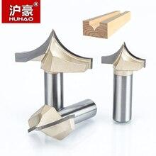 """HUHAO 1 個 1/4 """"1/2"""" シャンク木工カッターダブルエッジングのルータービット超硬木工彫刻ツール彫刻ビット"""