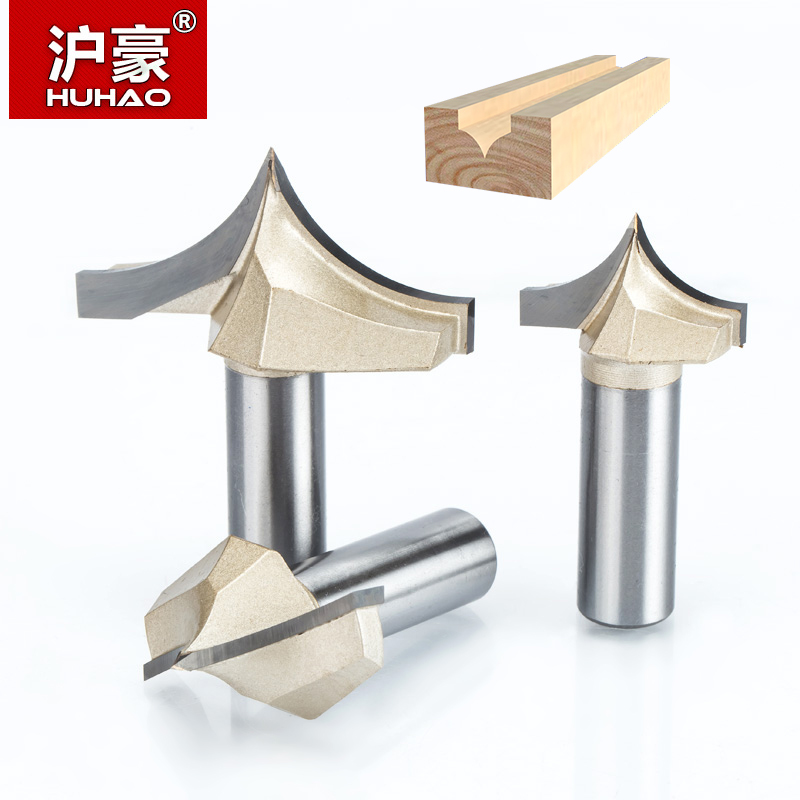HUHAO 1pcs 1/4 1/2 Shank Woodworking Cutter Double Edging Router Bits for wood carbide Woodworking Engraving Tools carving bit huhao 2pcs lot 1 2 shank double edging router bits for wood 90 deg v type slotting cutter tungsten cnc woodworking carving tool