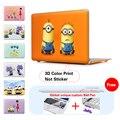 Смешные Миньоны Кристалл Ноутбука Чехол Для Macbook Air 13 Air 11 Case Pro 13 15 Retina Для Mac Book Air 13 Случае Крышка Клавиатуры