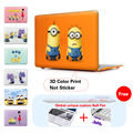 Funny Minions Crystal Laptop Case For Macbook Air 13 Case Air 11 Pro 13 15 Retina For Mac Book Air 13 Case Keyboard Cover