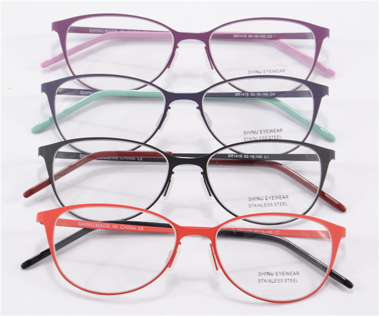 Aliexpress.com : Buy Eye Glasses Frames For Women Red Round Metal ...