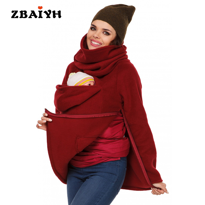 Maternity Clothes Sweatshirt Baby Carrier Kangaroo Multifunction Mom Pregnant Pullover Top Plus Size Autumn Thick Women Clothing