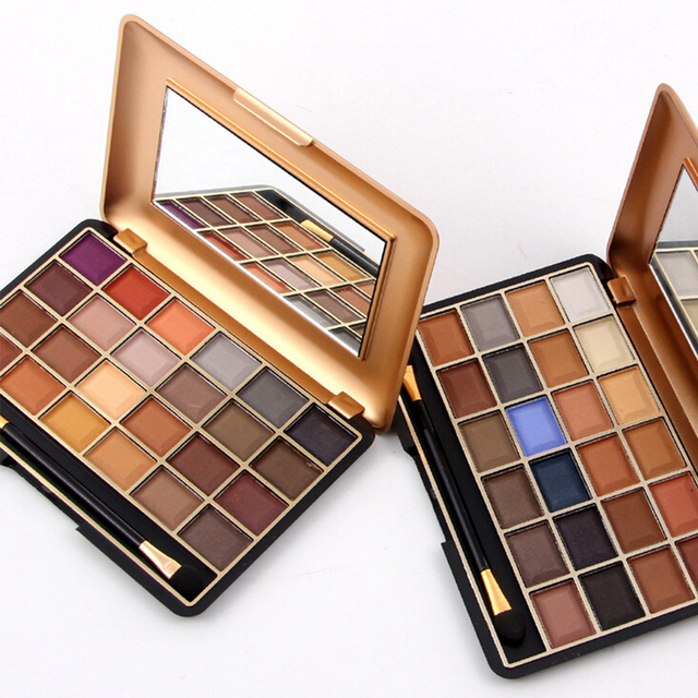 Free shipping Pro 24 Full Color Eyeshadow Palette Eye Shadow Makeup Warm Cosmetics Contain Matte And Shimmer South America Color