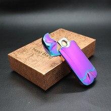 โลหะUsbชาร์จเบากล่องของขวัญส่วนบุคคลGadgetsอิเล็กทรอนิกส์อาร์คไฟฟ้าไฟแช็Windproofบุหรี่ซิการ์