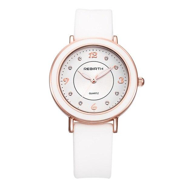 f317f48e96f RENASCIMENTO Nova Moda Estilo Simples Top Famosa marca de Luxo relógio de  quartzo Das Mulheres relógios De Couro casual hot Relógio Reloj mujeres ...
