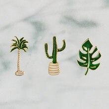 Летняя пустыня пляж Зеленый Кактус пальмы листья растения дерево