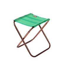 Folding Stool Camping Chair Seat For Fishing Small Folding Aluminum Chair Portable Outdoor Picnic Beach BBQ Mini Seat K514