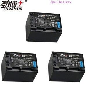 3 peças De Alta Capacidade NP-FV70 FV70 NPFV70 Recarregável Baterias Da Câmera para Sony NP HDR-CX230 HDR-CX150E HDR-CX170 CX300