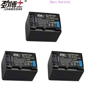 3pcs High Capacity NP-FV70 NP FV70 NPFV70 Rechargeable Camera Batteries for Sony HDR-CX230 HDR-CX150E HDR-CX170 CX300