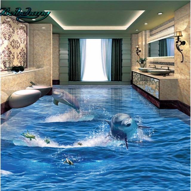 Beibehang Dolphin de océano 3D estéreo cuarto de baño