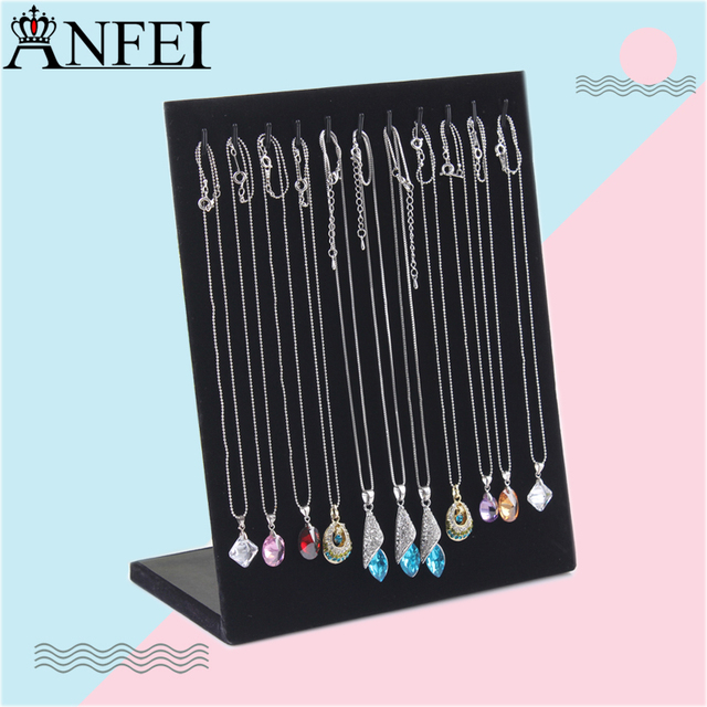 High end Black Necklace Stand Jewelry Pendant Holder Jewelry