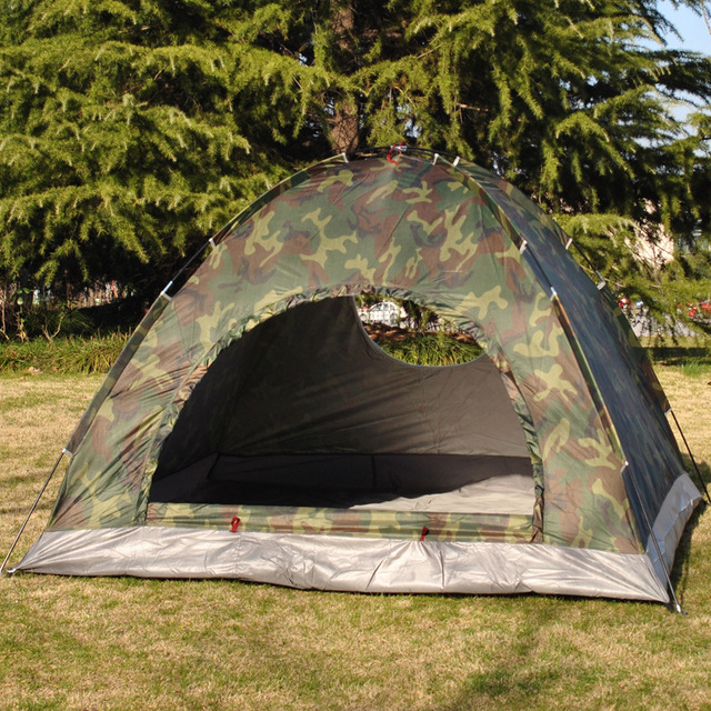 VILEAD Outdoor C&ing Camouflage Tent 3-4 People C&ing Tent Ultraviolet-proof Spacious and & VILEAD Outdoor Camping Camouflage Tent 3 4 People Camping Tent ...