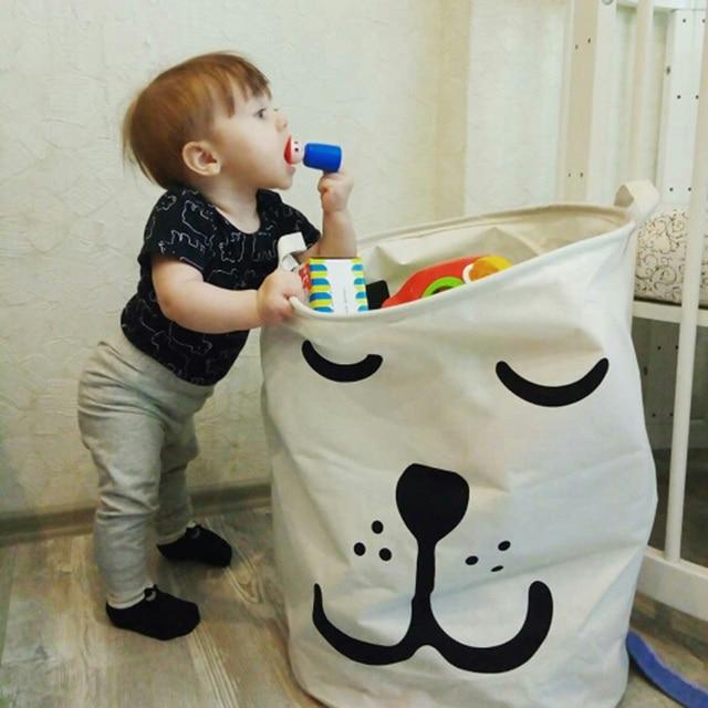 Laundry Toys Storage Box Basket Stand Super Large Bag Cotton Washing Dirty Clothes Picnic Big Organizer Bin Handle 1