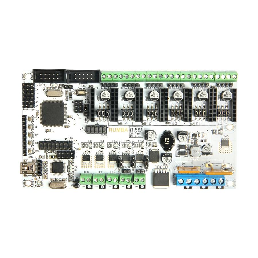Geeetech Rumba 3D Controller Board ATmega2560 for Mentel Reprap Prusa 3D printer geeetech evaluation board for silicon laboratories si4703 fm radio module tuner