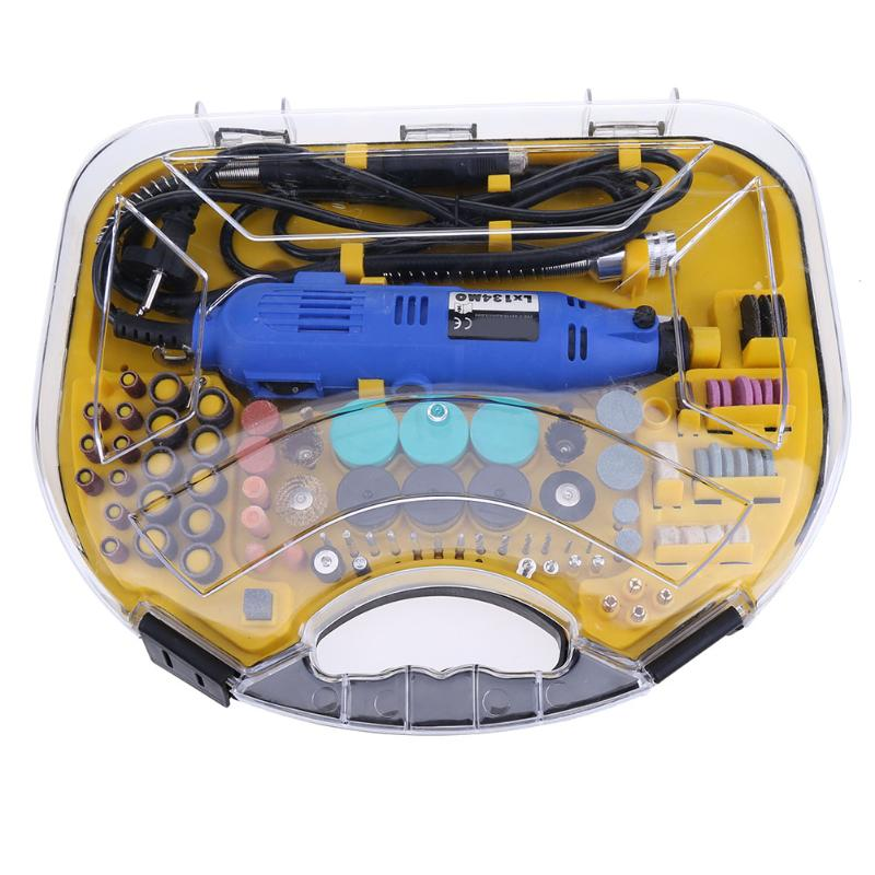 220V Mini Drill Electric Grinding Polishing Set With 210pcs Power Tools Accessories For Dremel Grinder Cutting Engraving Tool electric grinding safety protective cover shield mini drill holder power tool accessories for dremel 3000 4000 engraving