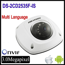 Wholesale Hikvision DS-2CD2535F-IS replace DS-2CD2532F-IS 3MP Network Mini Dome Camera built in mic CCTV IP camera ds-2cd2532-i
