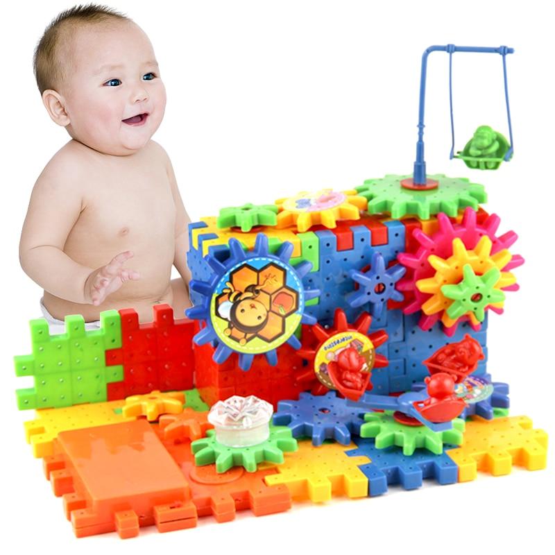 81 Pcs Electric Gears 3D Puzzle Building Bricks Educational Toys Kids Children