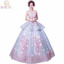 Платье с цветочным принтом многоцветное бальное платье на свадьбу