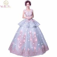 Vestido De 15 anos Quinceanera Dresses Debutante dress 2018 Ball Gown Multicolor Wedding Ball Gown Sweet Lace Flower Party Gowns