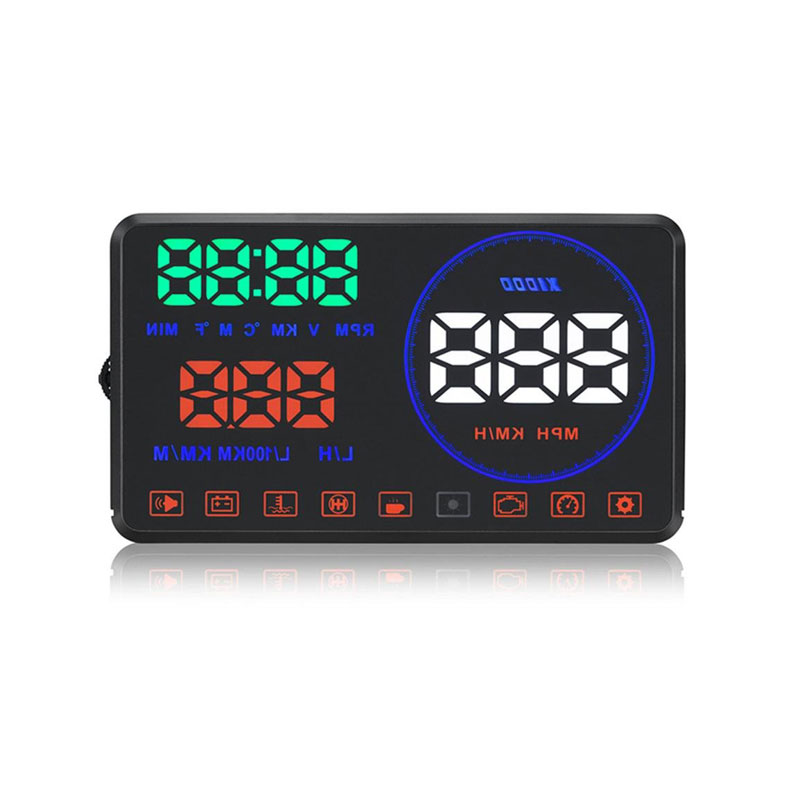 GEYIREN M9 HUD Display Car 5.5 Inch Windscreen Projector OBD2 EUOBD Car Driving Data Display Speed RPM Fuel Consumption 2018 New-in Head-up Display from Automobiles & Motorcycles