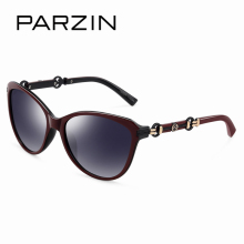 PARZIN New 2017 Summer Cat Eye Luxury Women's Sunglasses Brand Designer Elegant Eyewear Spectacles with Logo Box 9500