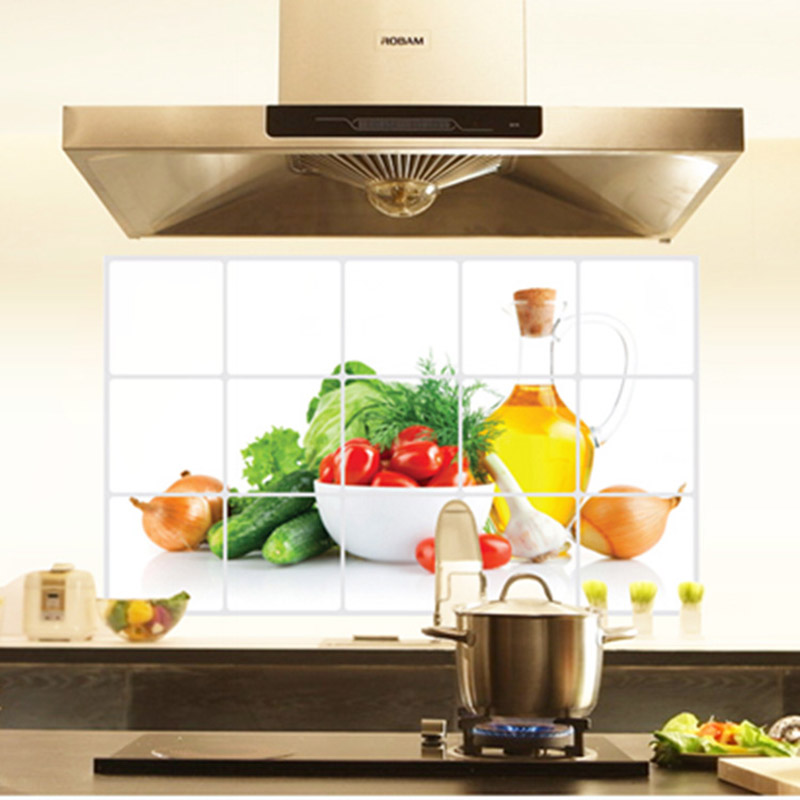 Fashion Kitchen Dedicated Wall Stickers High Quality Anti Oil Wall Poster Modern Technology Decoration