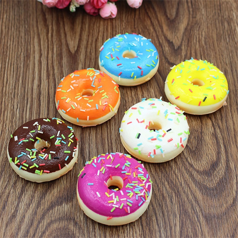6pcs Soft Artificial Fake Bread Donuts Doughnuts Simulation Model Home Decoration Craft Toy Kitchen Pretend Toys For Children