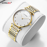 LONGBO Brand New Fashion Lovers Watches Waterproof Stainless Steel Women Men Quartz Wristwatch Classic Couple Watch Gifts 5095