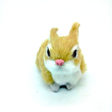 Cute Rabbit 9 6 5cm simulation brown rabbit toy polyethylene furs squatting rabbit model home decoration