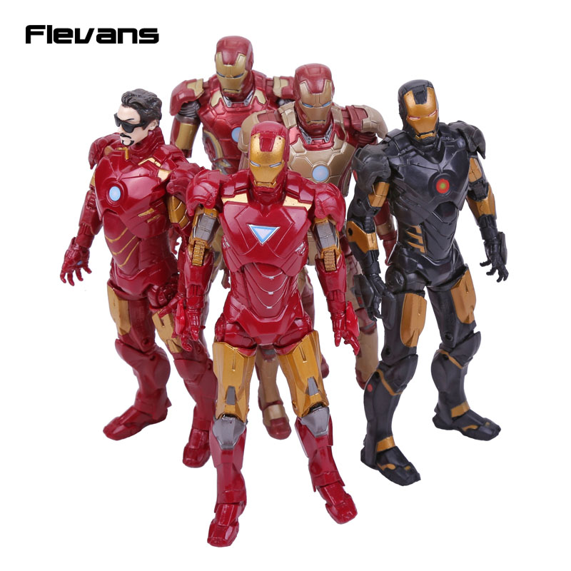 Original Good Quality Iron Man MK42 MK43  Tony Stark PVC Action Figure Collectible Model Toy 16cm 5 Styles