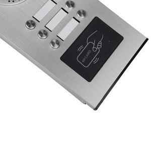 Image 5 - Проводной Домашний 4,3 дюймовый TFT видеодомофон, система дверного звонка, RFID камера с монитором 2/3/4, домофон для нескольких квартир, разблокировка ключей EM