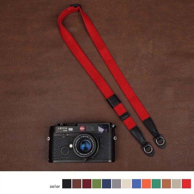 Cam in 1441 1455 شريط كاميرا عالمية الرقبة الكتف حزام حمل 15 ألوان مريحة القطن والجلود الناعمة