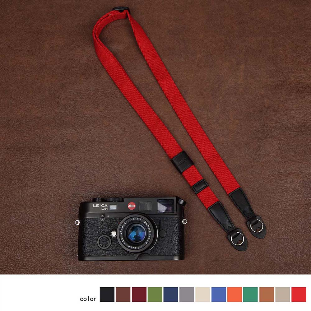 cam-in 1441-1455 Universal Camera Strap Neck Shoulder Carring Belt 15 colors Comfortable cotton and soft leather